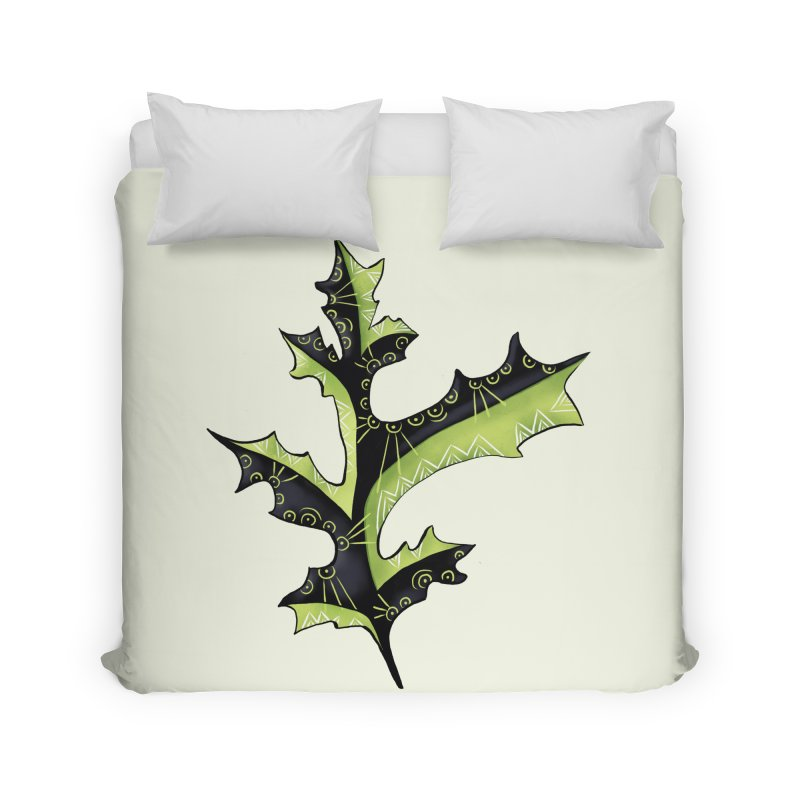 Tattooed Oak Leaf Home Duvet by Boriana's Artist Shop