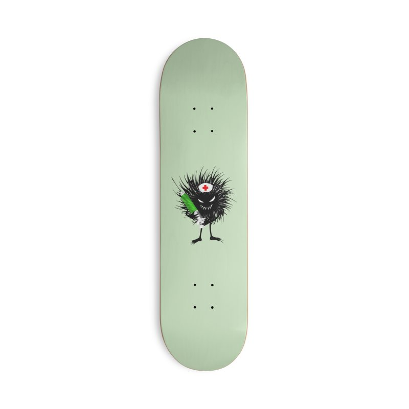 Funny Evil Bug Nurse With Syringe Accessories Deck Only Skateboard by Boriana's Artist Shop