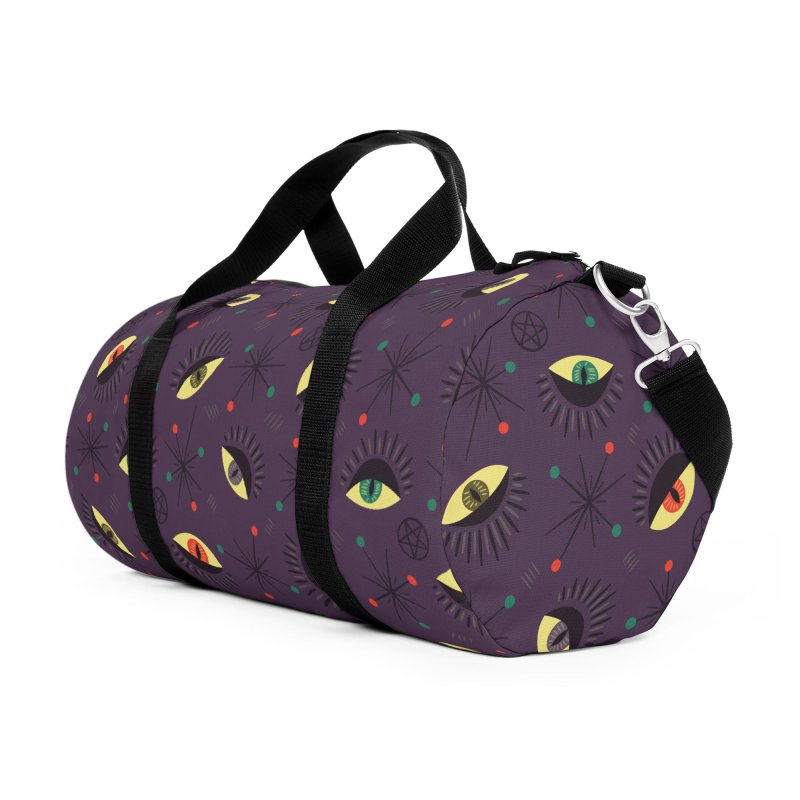 Witch Eyes Spooky Retro Pattern Accessories Duffel Bag Bag by Boriana's Artist Shop