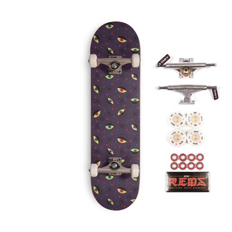 Witch Eyes Spooky Retro Pattern Accessories Complete - Pro Skateboard by Boriana's Artist Shop