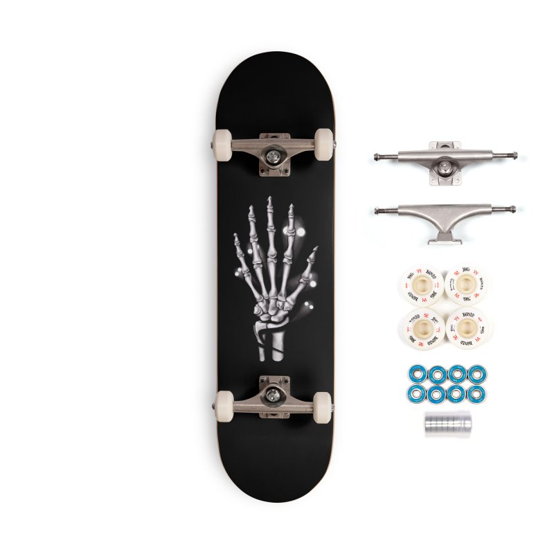 Skeleton hand with ghosts Accessories Complete - Premium Skateboard by Boriana's Artist Shop