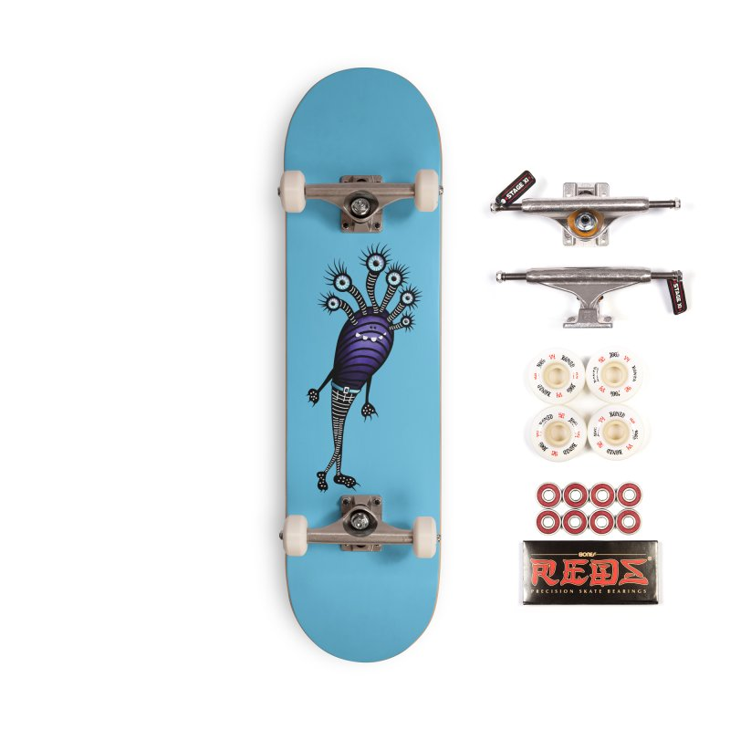 Funny Monster With Fancy Pants Accessories Complete - Pro Skateboard by Boriana's Artist Shop