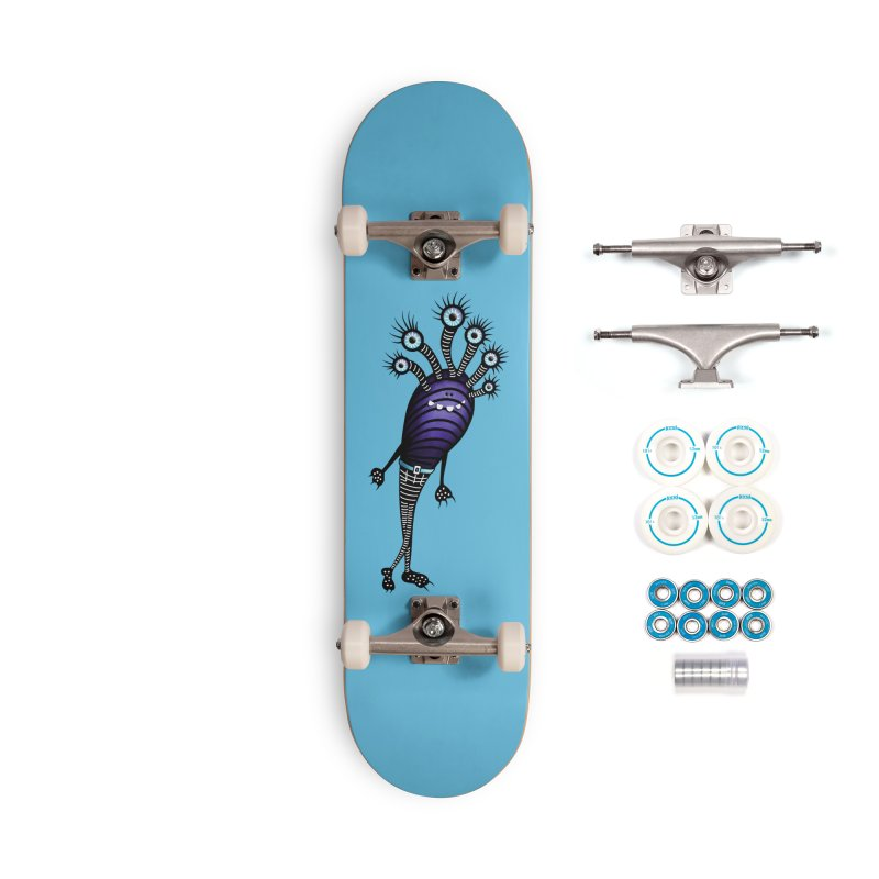 Funny Monster With Fancy Pants Accessories Complete - Basic Skateboard by Boriana's Artist Shop