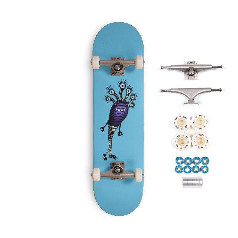 Funny Monster With Fancy Pants Accessories Complete - Premium Skateboard by Boriana's Artist Shop