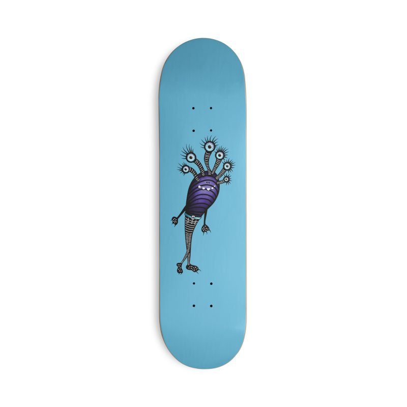 Funny Monster With Fancy Pants Accessories Deck Only Skateboard by Boriana's Artist Shop