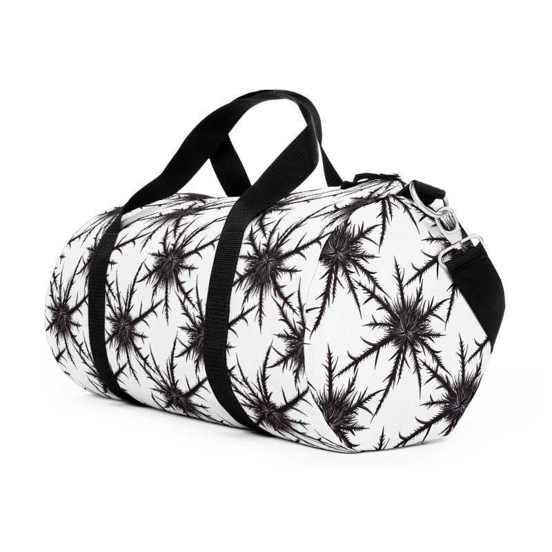 Dry Thistle With Sharp Thorns Botanical Art Accessories Duffel Bag Bag by Boriana's Artist Shop
