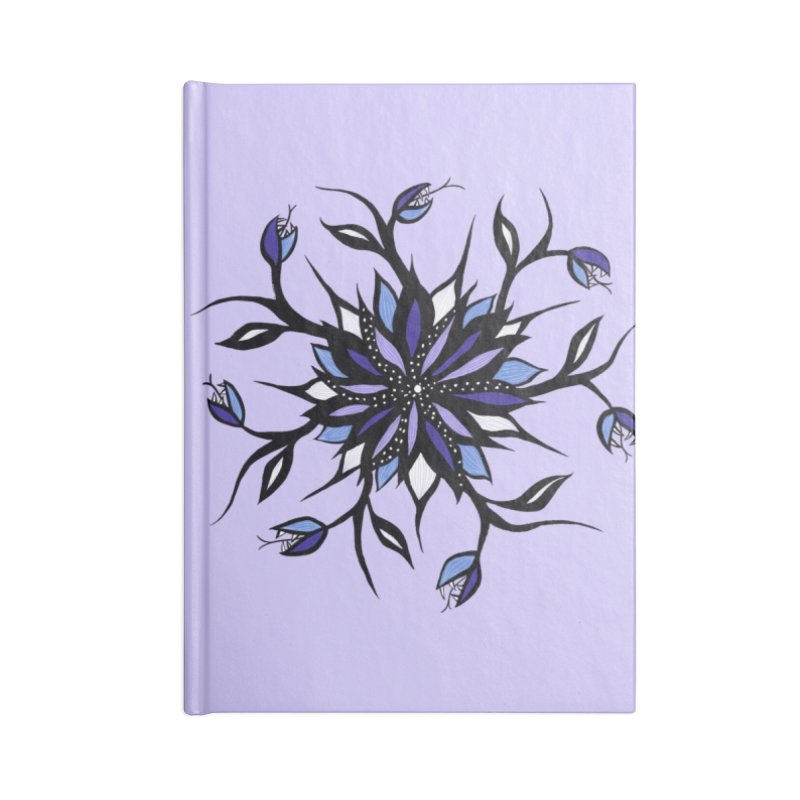 Gothic Floral Mandala Monsters And Teeth Accessories Blank Journal Notebook by Boriana's Artist Shop