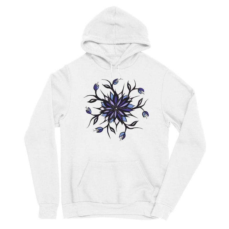 Gothic Floral Mandala Monsters And Teeth Men's Sponge Fleece Pullover Hoody by Boriana's Artist Shop