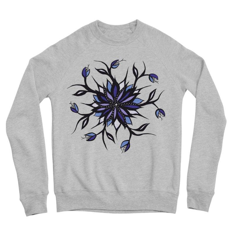 Gothic Floral Mandala Monsters And Teeth Women's Sponge Fleece Sweatshirt by Boriana's Artist Shop
