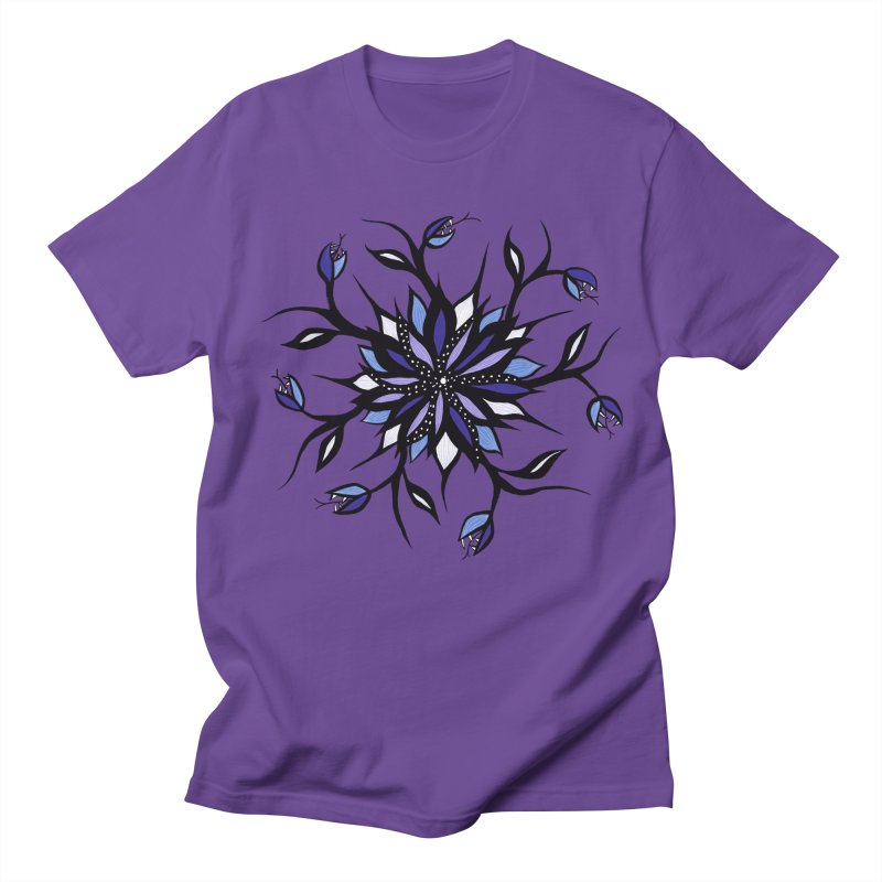 Gothic Floral Mandala Monsters And Teeth Women's Regular Unisex T-Shirt by Boriana's Artist Shop