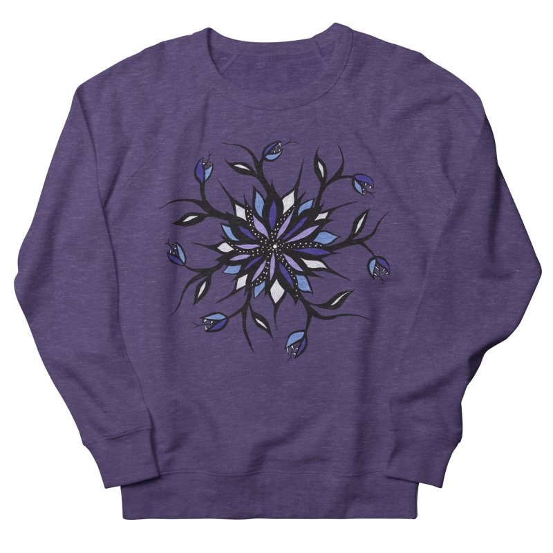 Gothic Floral Mandala Monsters And Teeth Women's French Terry Sweatshirt by Boriana's Artist Shop