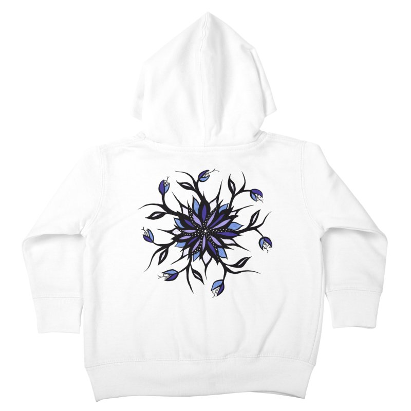 Gothic Floral Mandala Monsters And Teeth Kids Toddler Zip-Up Hoody by Boriana's Artist Shop