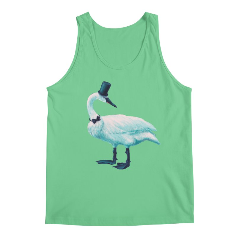 Funny Swan With Bowtie And Top Hat Men's Regular Tank by Boriana's Artist Shop