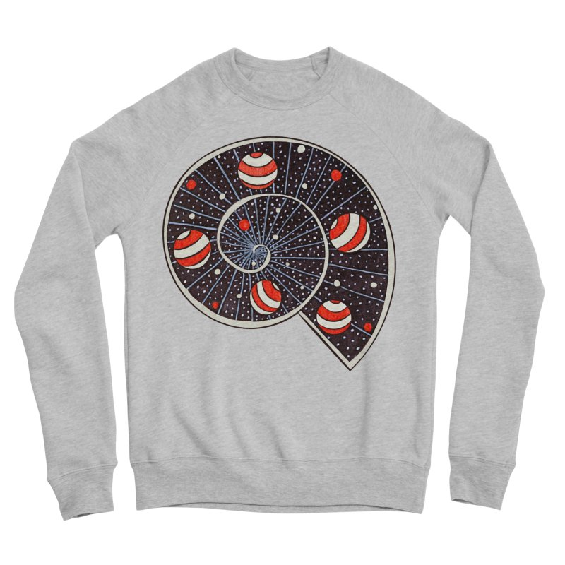 Spiral Galaxy Snail With Beach Ball Planets Women's Sponge Fleece Sweatshirt by Boriana's Artist Shop