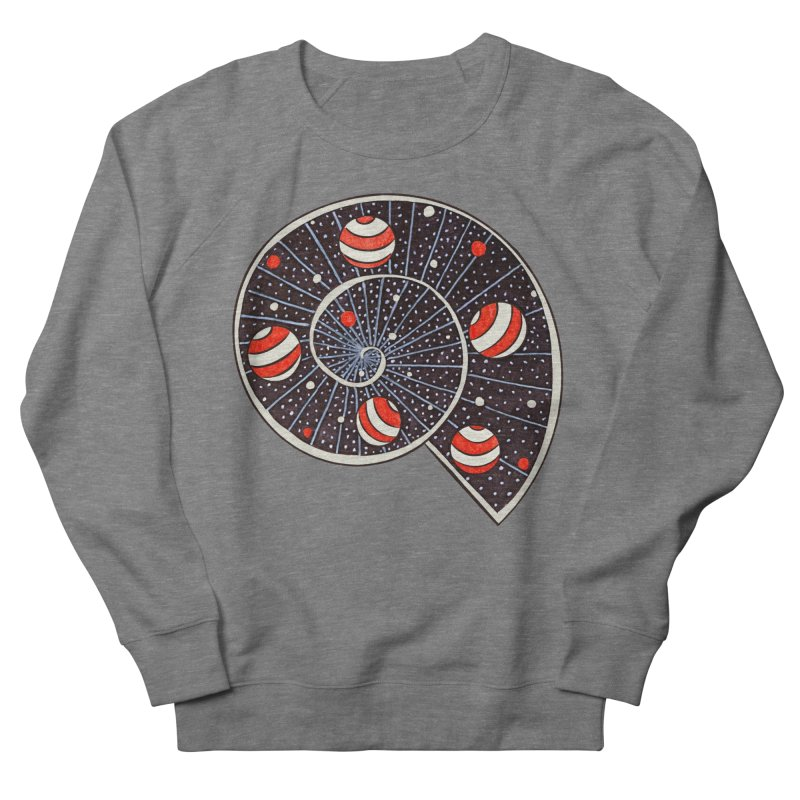 Spiral Galaxy Snail With Beach Ball Planets Women's French Terry Sweatshirt by Boriana's Artist Shop