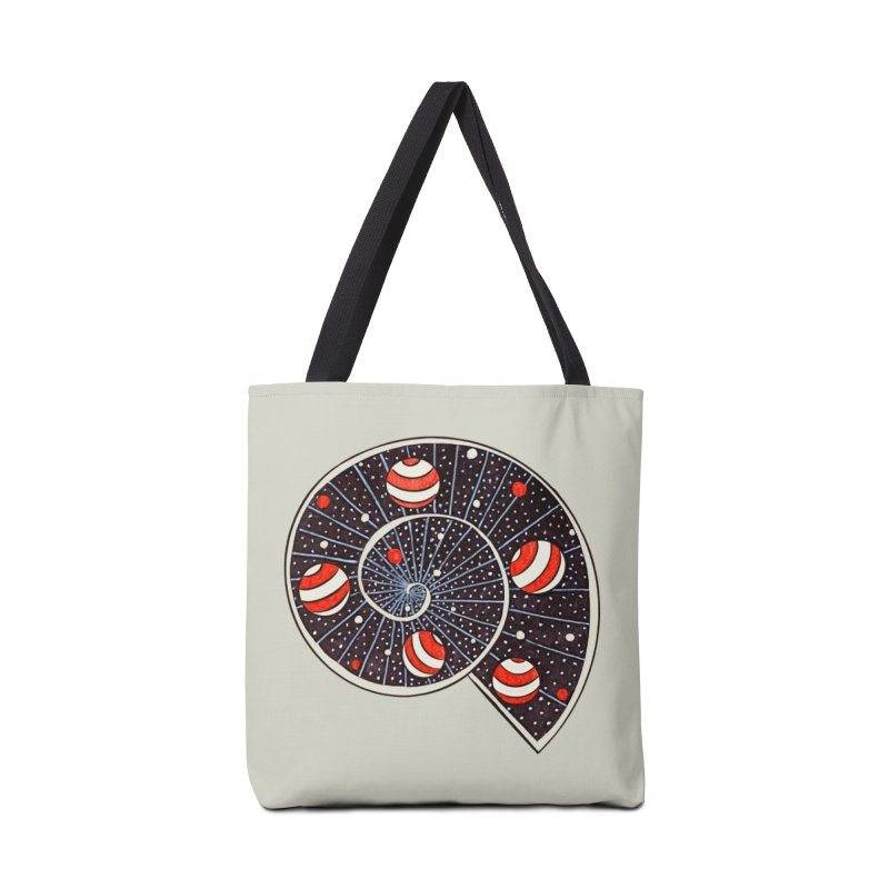 Spiral Galaxy Snail With Beach Ball Planets Accessories Tote Bag Bag by Boriana's Artist Shop