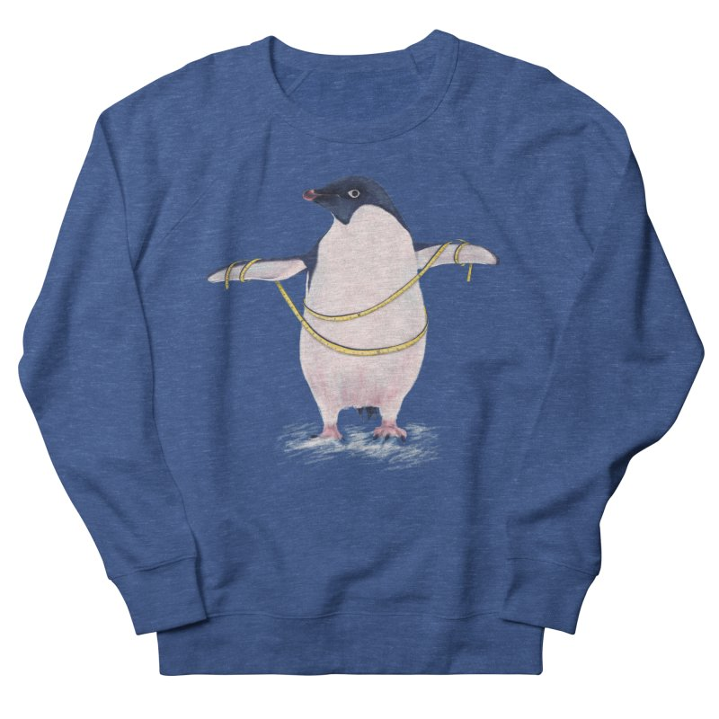 Cute Fat Penguin Goes On Diet Women's French Terry Sweatshirt by Boriana's Artist Shop