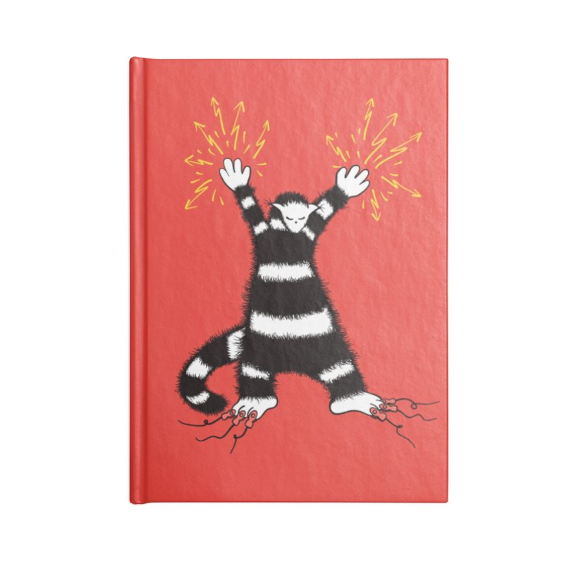 Cool Cute Weird Electro Cat Accessories Lined Journal Notebook by Boriana's Artist Shop