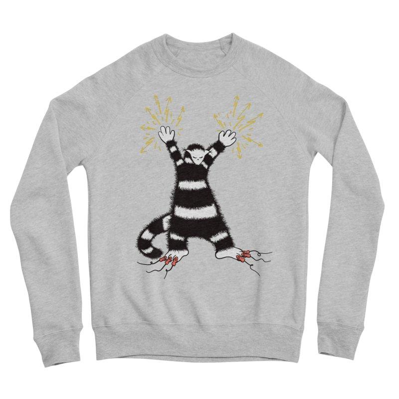 Cool Cute Weird Electro Cat Women's Sponge Fleece Sweatshirt by Boriana's Artist Shop