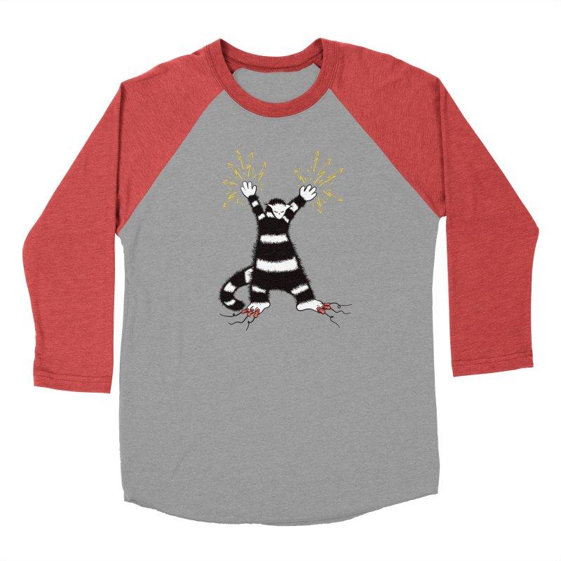 Cool Cute Weird Electro Cat Women's Baseball Triblend Longsleeve T-Shirt by Boriana's Artist Shop