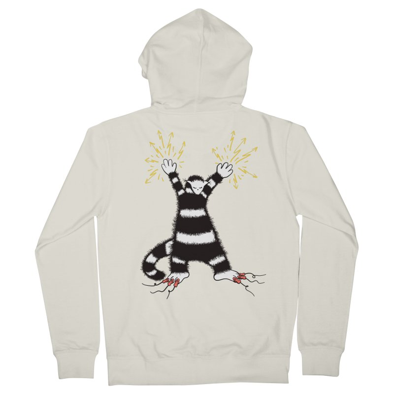Cool Cute Weird Electro Cat Women's French Terry Zip-Up Hoody by Boriana's Artist Shop