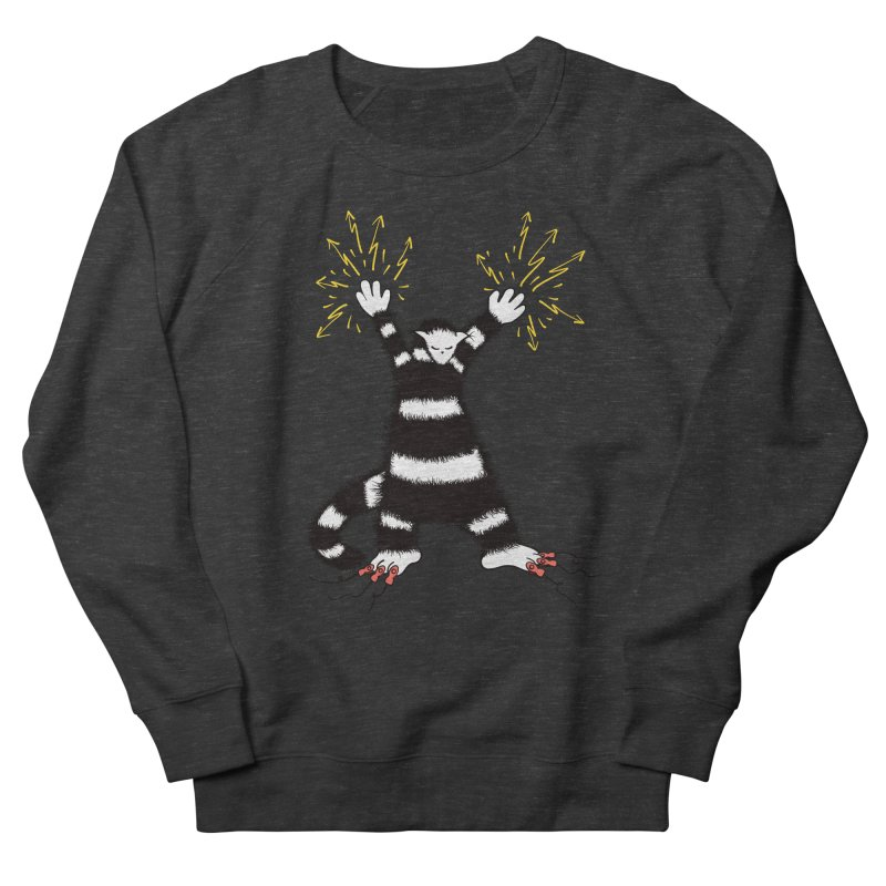 Cool Cute Weird Electro Cat Women's French Terry Sweatshirt by Boriana's Artist Shop
