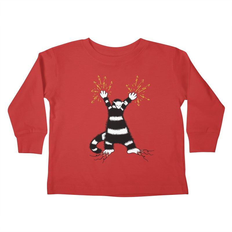 Cool Cute Weird Electro Cat Kids Toddler Longsleeve T-Shirt by Boriana's Artist Shop