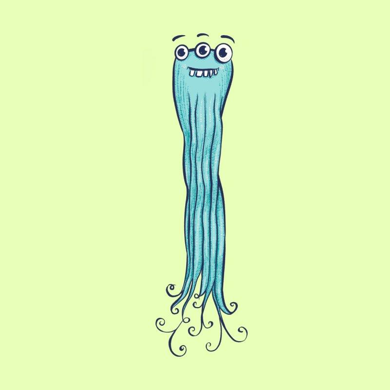 Cute Octopus Sea Monster Character Men's Socks by Boriana's Artist Shop