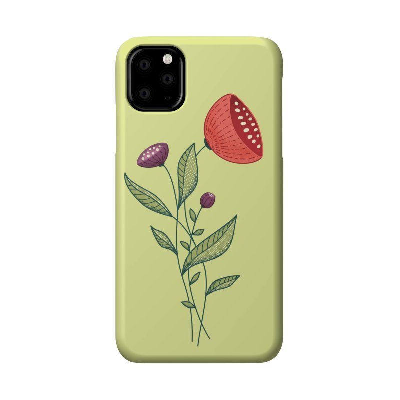 Spring Flowers Abstract Botanical Line Art Accessories Phone Case by Boriana's Artist Shop