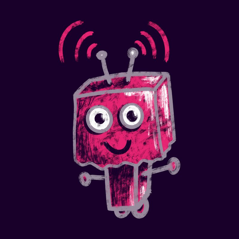 Cute Pink Robot With Paper Bag Head Accessories Phone Case by Boriana's Artist Shop
