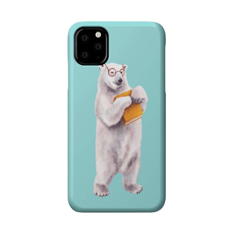 Smart Polar Bear Book Lover Accessories Phone Case by Boriana's Artist Shop