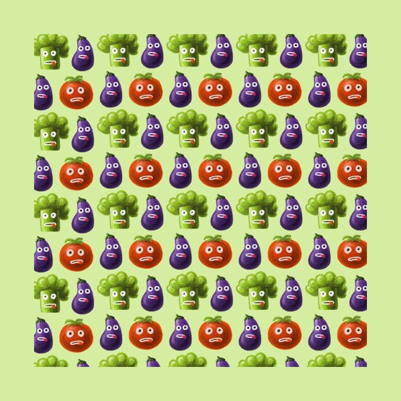 Funny Vegetables Pattern Broccoli Tomato Eggplant Men's Socks by Boriana's Artist Shop