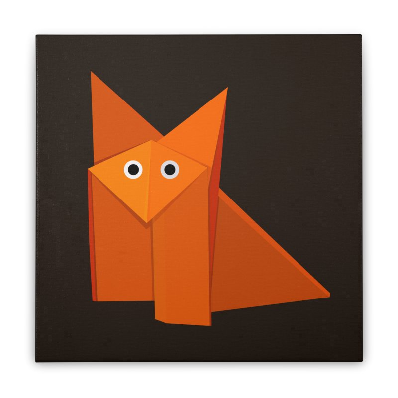 Geometric Cute Origami Fox Home Stretched Canvas by Boriana's Artist Shop