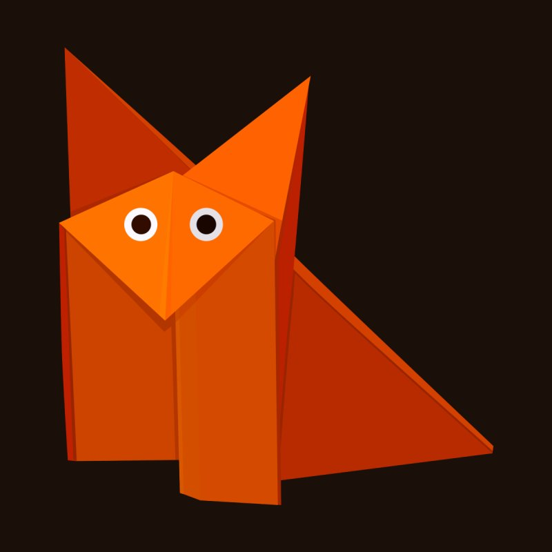 Geometric Cute Origami Fox by Boriana's Artist Shop