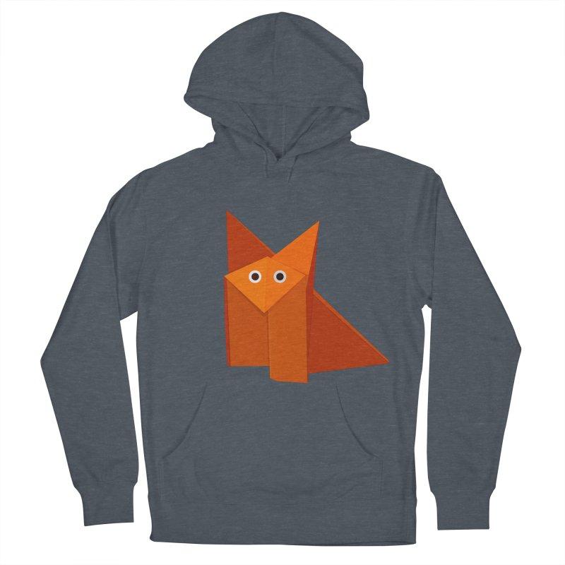 Geometric Cute Origami Fox Men's Pullover Hoody by Boriana's Artist Shop