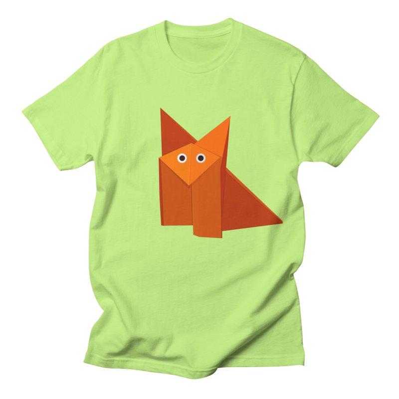 Geometric Cute Origami Fox Women's Unisex T-Shirt by Boriana's Artist Shop
