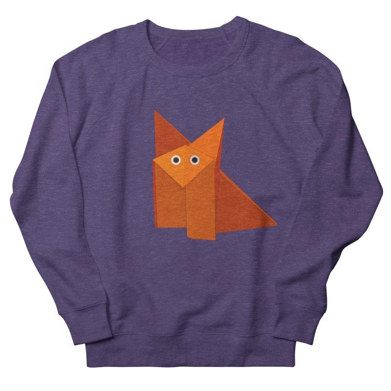 Geometric Cute Origami Fox Women's Sweatshirt by Boriana's Artist Shop