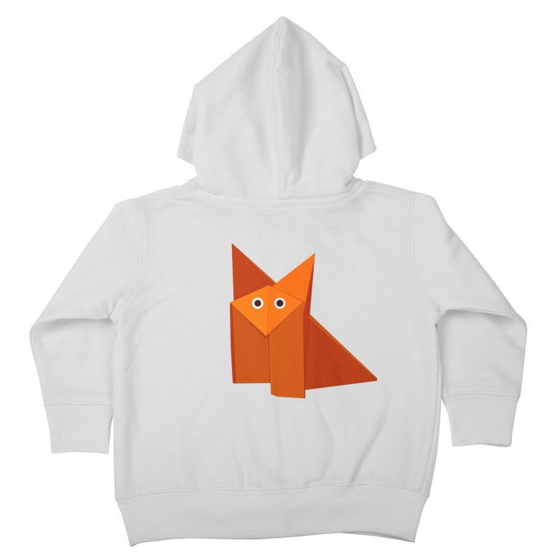 Geometric Cute Origami Fox Kids Toddler Zip-Up Hoody by Boriana's Artist Shop