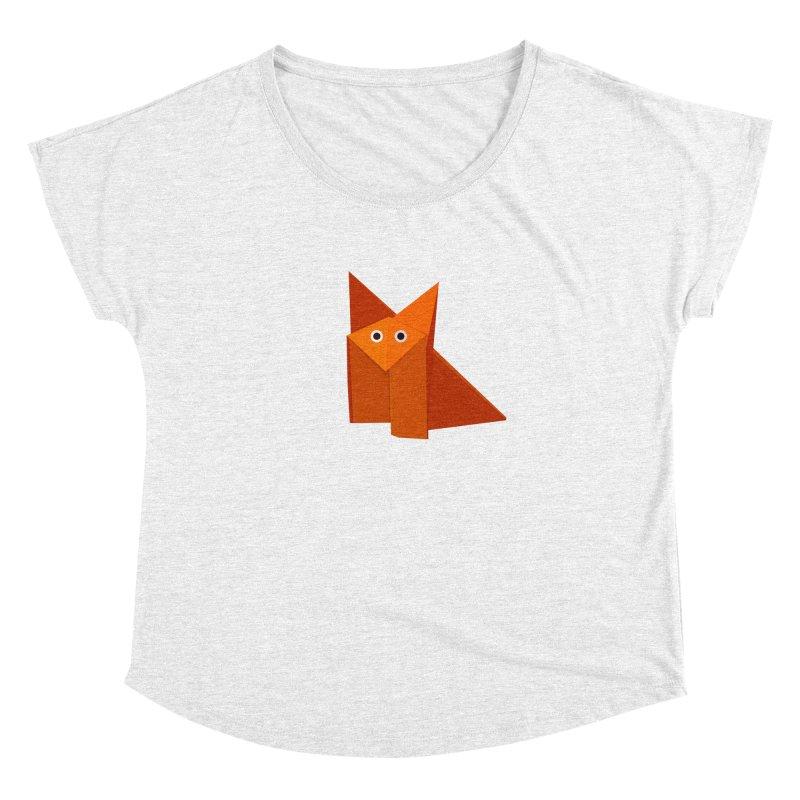 Geometric Cute Origami Fox Women's Dolman by Boriana's Artist Shop