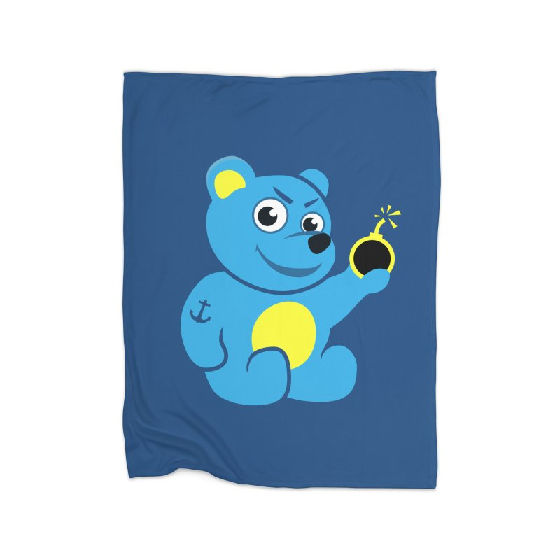 Evil Tattooed Teddy Bear Home Blanket by Boriana's Artist Shop