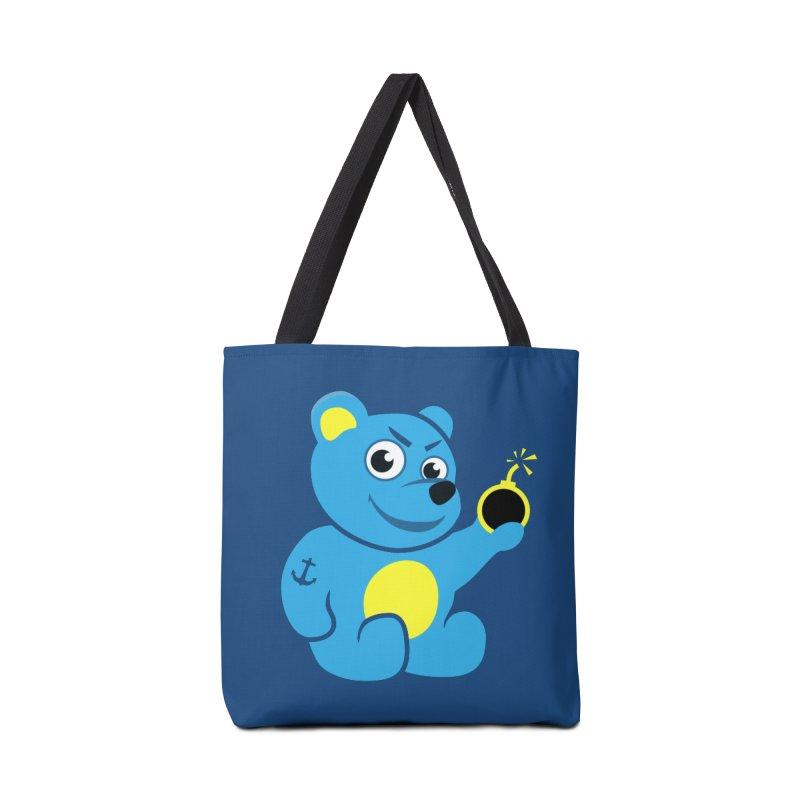 Evil Tattooed Teddy Bear Accessories Bag by Boriana's Artist Shop