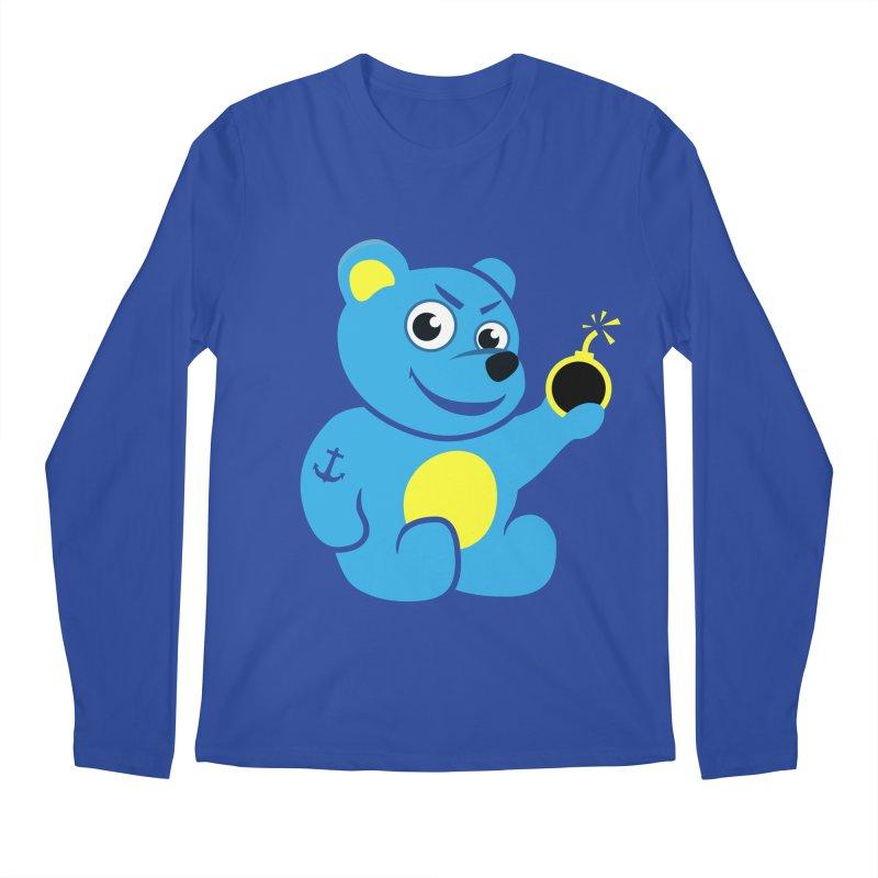 Evil Tattooed Teddy Bear Men's Longsleeve T-Shirt by Boriana's Artist Shop