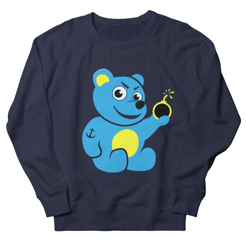 Evil Tattooed Teddy Bear Men's Sweatshirt by Boriana's Artist Shop