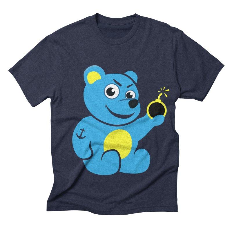 Evil Tattooed Teddy Bear Men's Triblend T-shirt by Boriana's Artist Shop