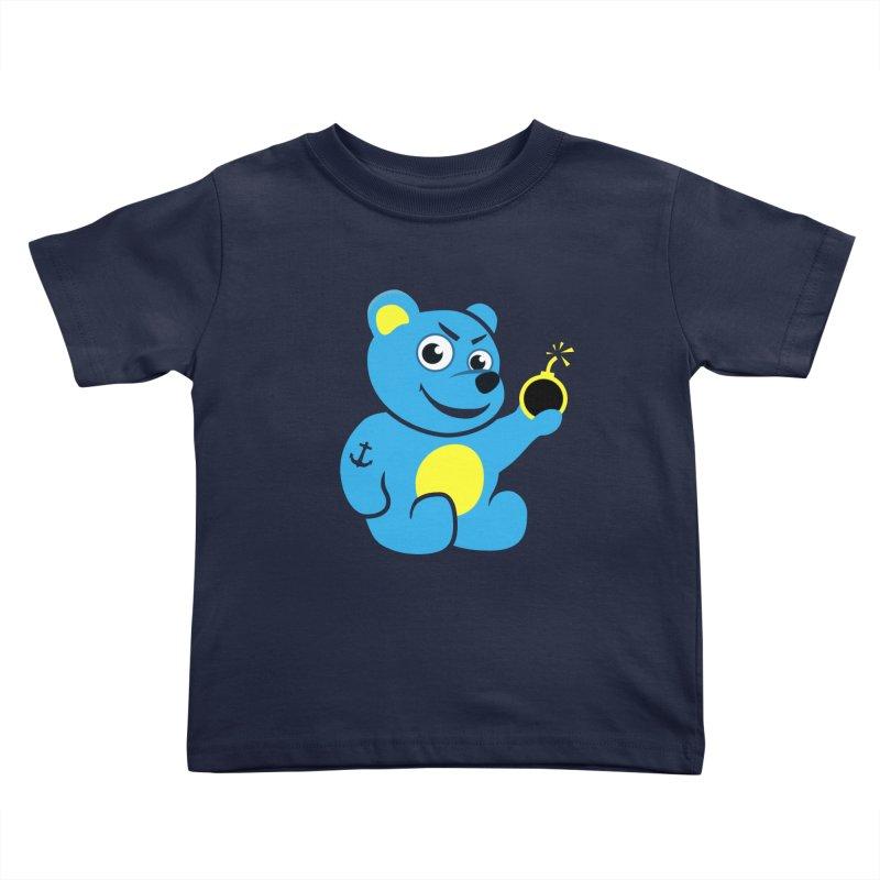 Evil Tattooed Teddy Bear Kids Toddler T-Shirt by Boriana's Artist Shop