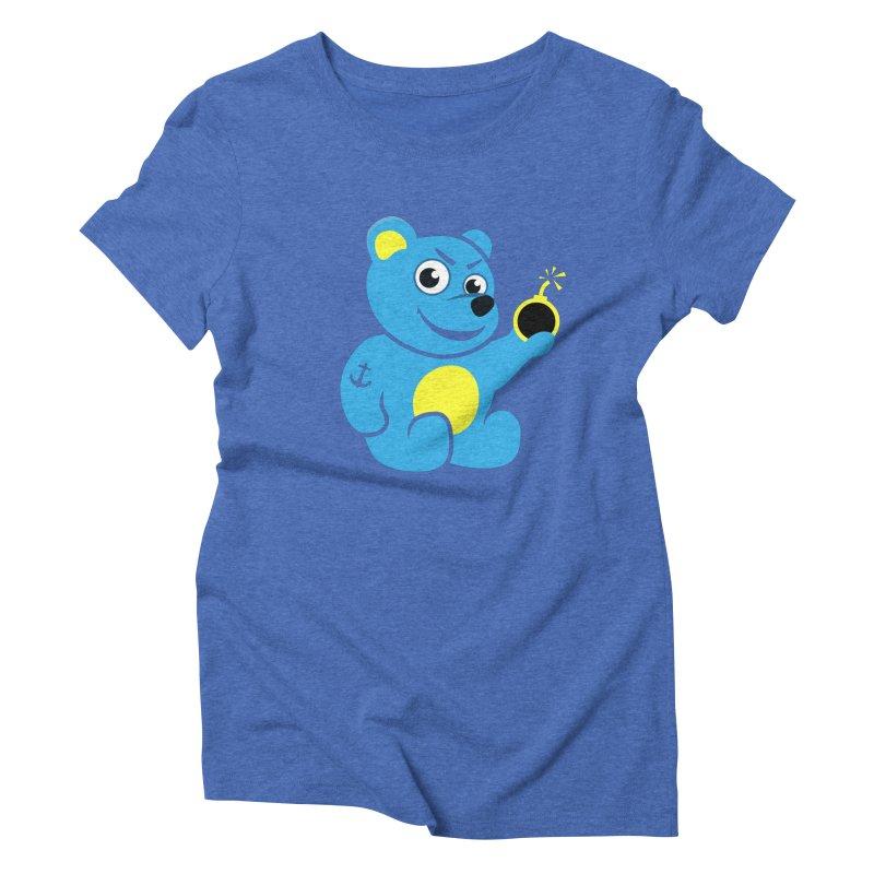 Evil Tattooed Teddy Bear Women's Triblend T-shirt by Boriana's Artist Shop