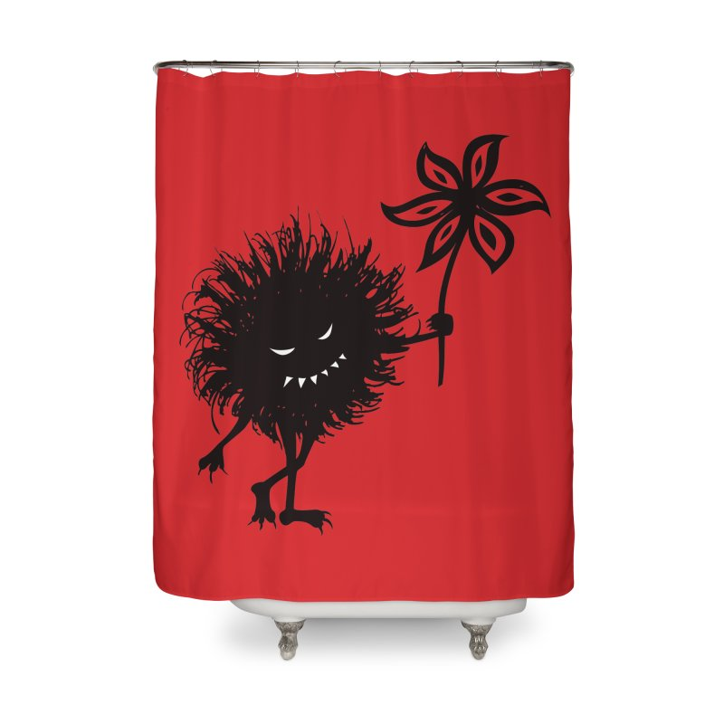 Evil Bug Gives Flower Home Shower Curtain by Boriana's Artist Shop