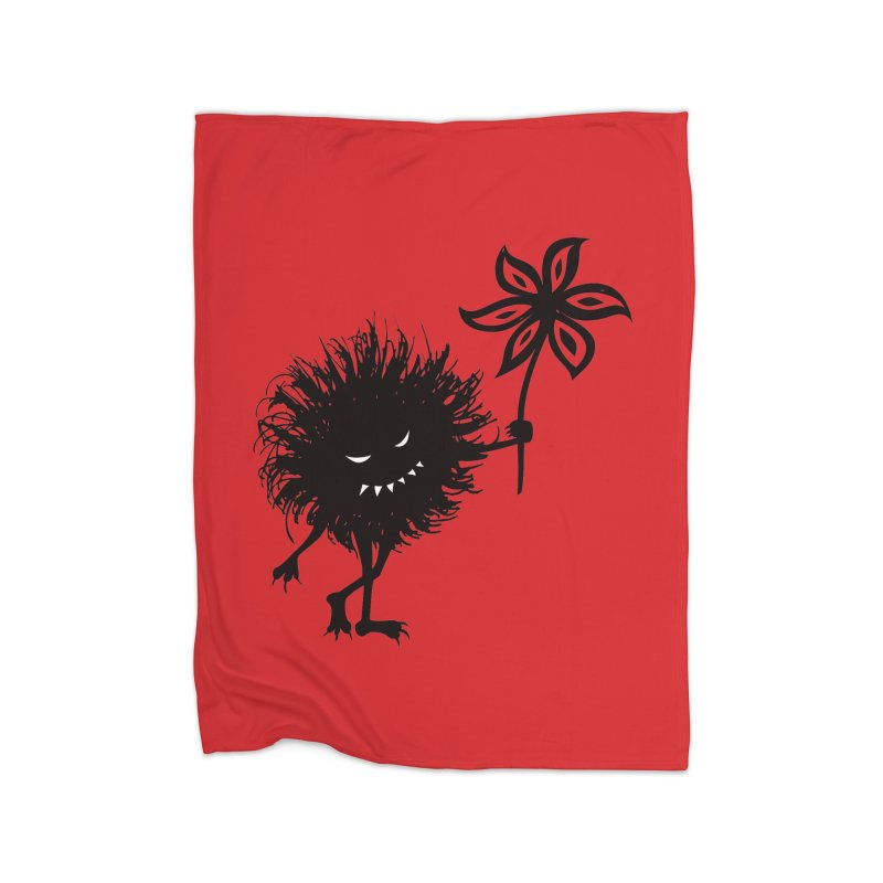 Evil Bug Gives Flower Home Blanket by Boriana's Artist Shop