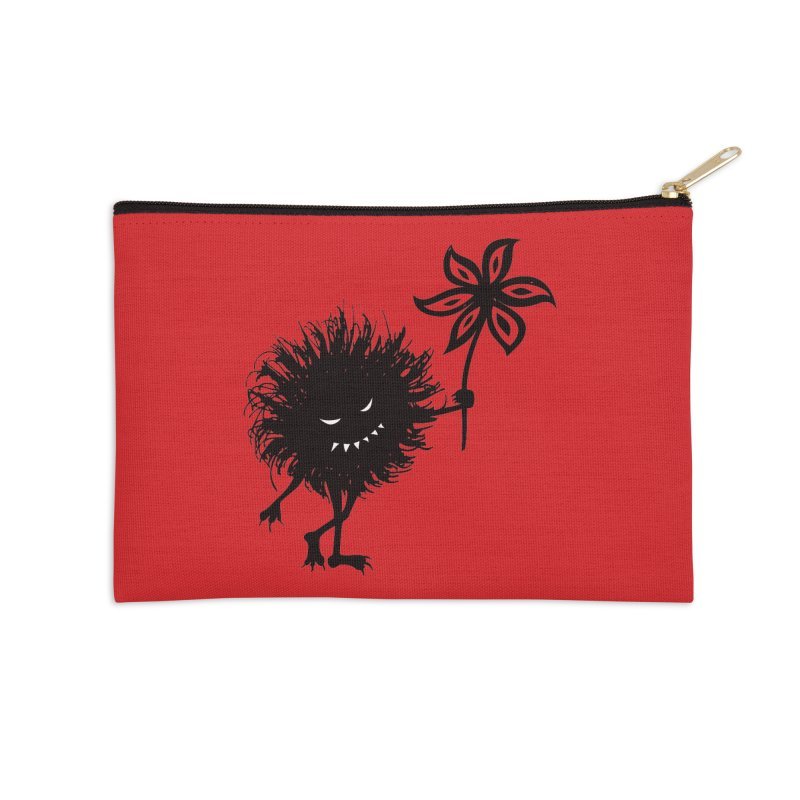 Evil Bug Gives Flower Accessories Zip Pouch by Boriana's Artist Shop