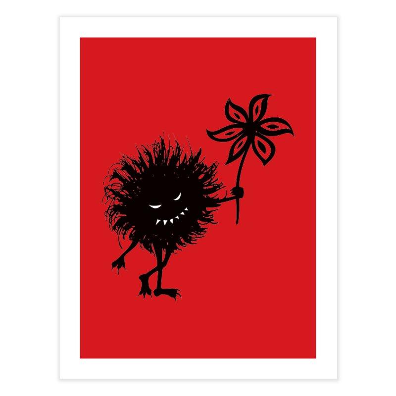 Evil Bug Gives Flower Home Fine Art Print by Boriana's Artist Shop